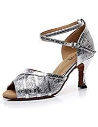 zapatos de baile latino color plata