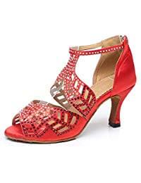 zapatos de baile latino color rojo